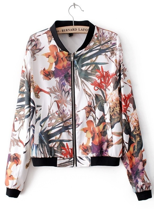 White-Long-Sleeve-Flowers-Print-Bomber-Jacket-p-114571-cat-1776